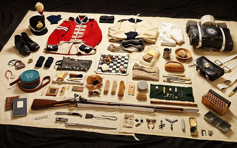 The Inventory Of A Soldier, Over 1000 Years Of War