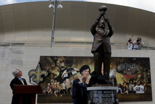 Saints Build Statue Of Man Who Tried To Move The Team