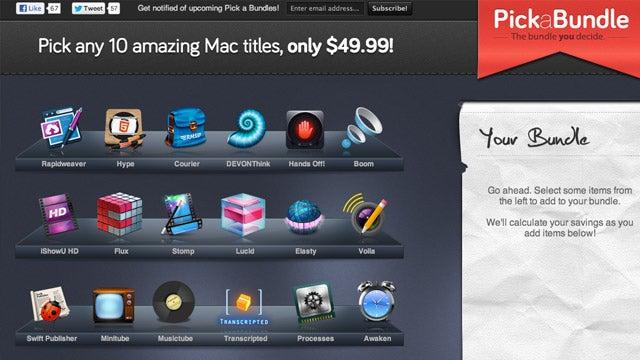 Pick a Bundle Lets You Choose 10 Mac Apps for $49.99