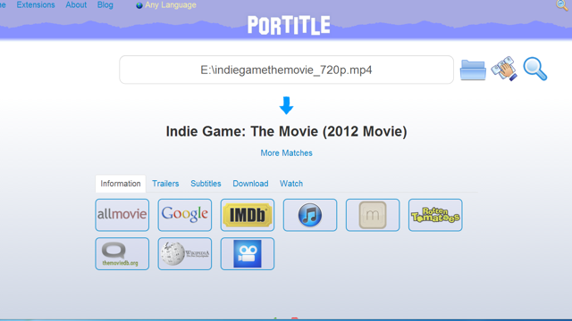 Portitle Finds and Aggregates All the Movie Info You Could Ever Need