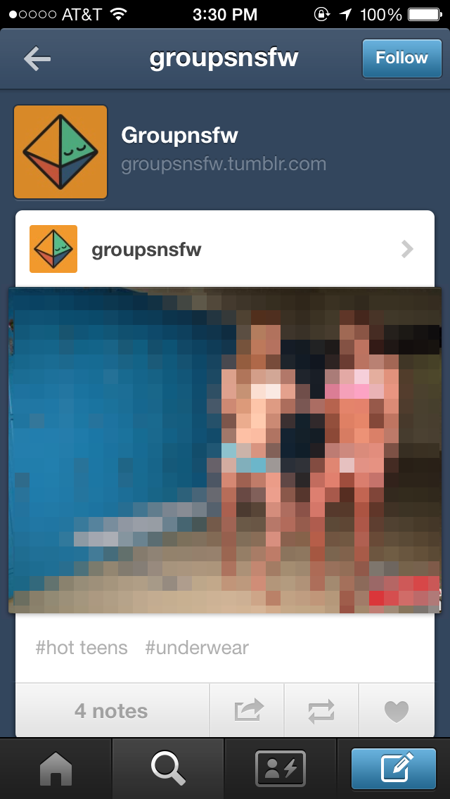 You Can't Look at #Gay on iPhone Tumblr, But #Underage is OK
