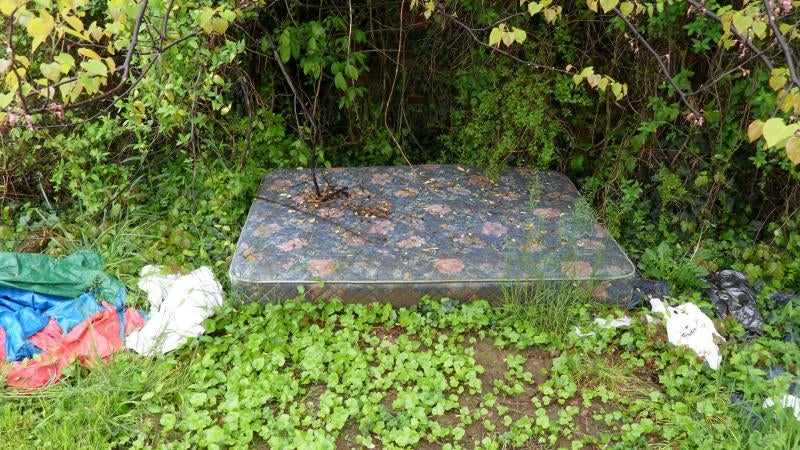 "Artist Gives Local ""Fuck Mattress"" a Loving Makeover"