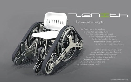 Stairs Aren't A Problem With Futuristic Tank Tread Wheelchair