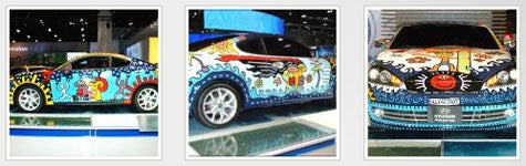 LA Auto Show: We Turned Our Shark Into Art: BILLY's Hyundai Tiburon