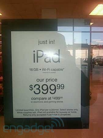 Get a 16GB Wi-Fi iPad For Just $399 at Some T.J. Maxx and Marshalls Locations