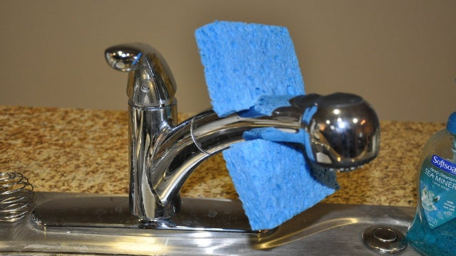 Keep Sponges from Getting Grimy with One Cut