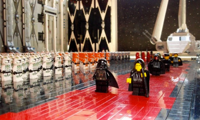 The Force is strong with this 30,000-piece Lego Death Star diorama