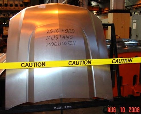 2010 Ford Mustang Hood Uncovered, Reveal Expected In Build Montage Form