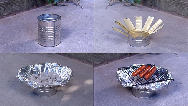 Make a DIY Grill out of a Tin Can