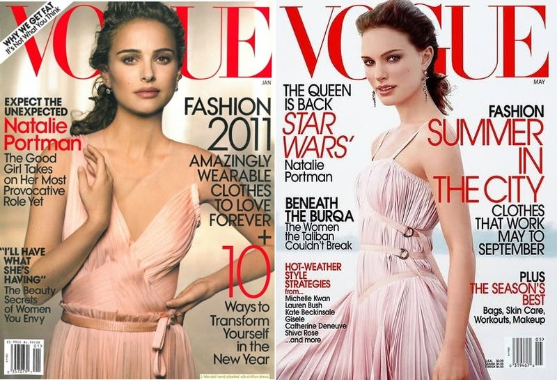 Vogue Recycles Nine-Year-Old Natalie Portman Cover