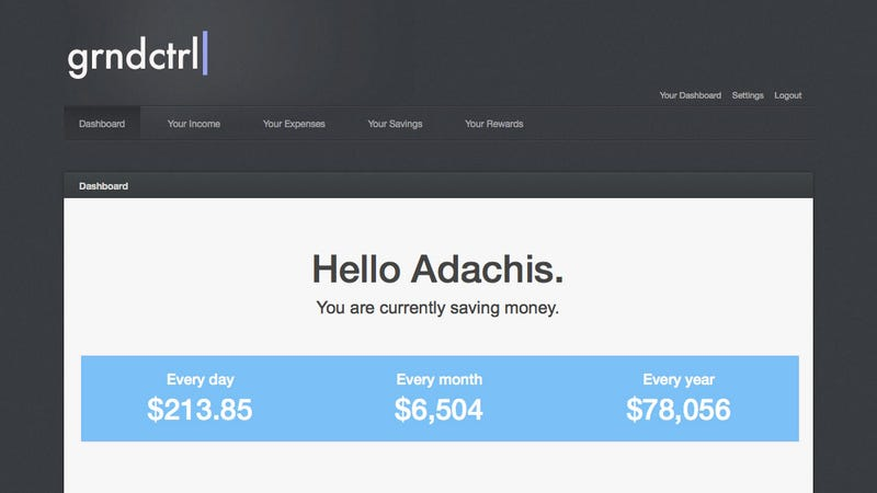 Grndctrl Tracks Your Money and Estimates How Soon You Can Afford to Buy That Shiny New Gadget