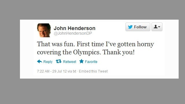 "Denver Post Writer Says He Never Meant To Tweet About How ""Horny"" He Got While Covering The Olympics"