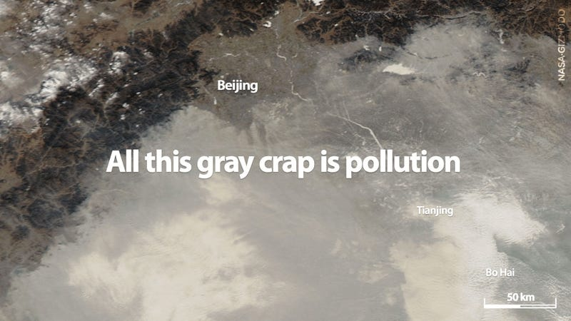 China's Pollution Is So Insane You Can See It From Space