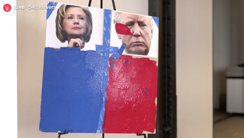 LIVE: Drying Paint Predicts Your Next President [Updated]