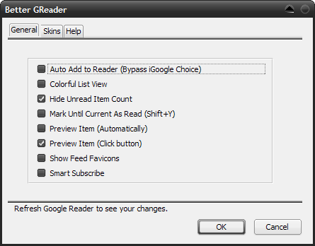 Trick out Google Reader with Better GReader