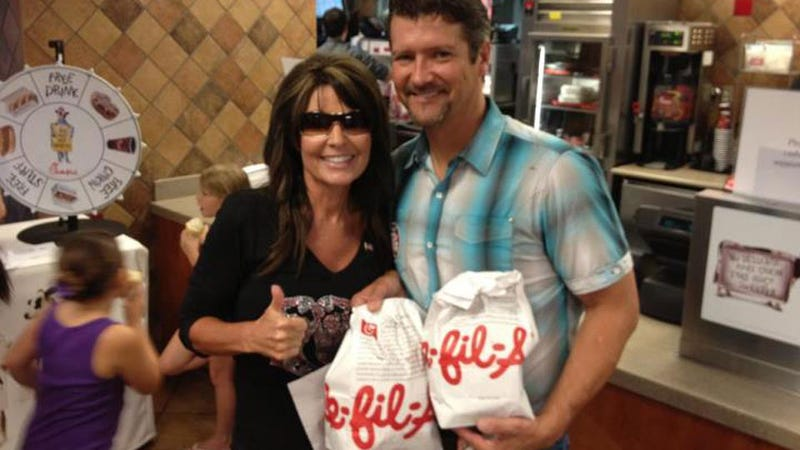 Sarah Palin Went to Chick-fil-A Just To Let Everyone Know She Hates Gay People
