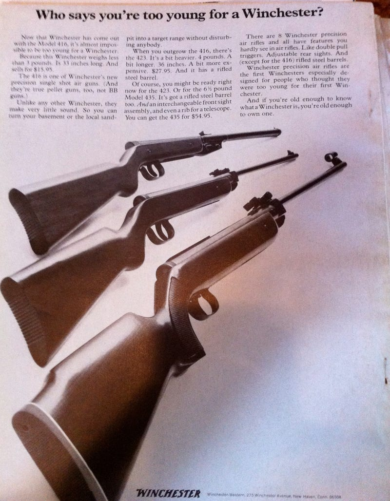 In 1970, It Was Time To Buy Your Son a Shotgun
