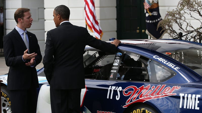 The Most Hilarious Thing President Obama Learned About NASCAR Today
