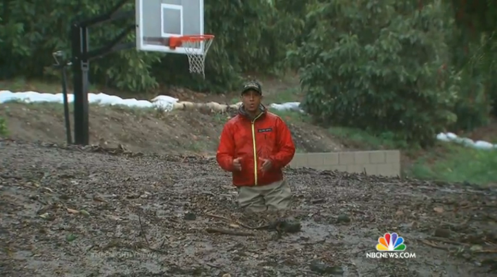 NBC News Reporter Gets His Dumb Ass Stuck in a Mudslide