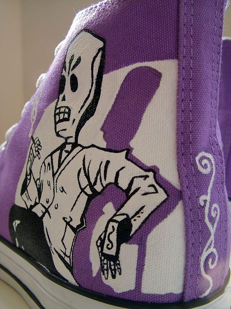 Grim Fandango Shoes Make Purple Sneakers Possible