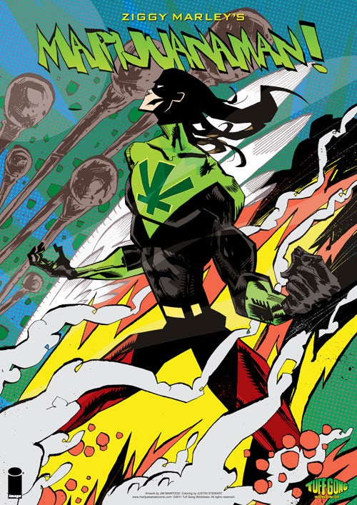 Ziggy Marley explains his new superhero, Marijuanaman!