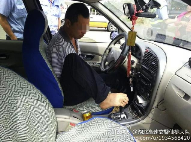 Armless Man Pulled Over, Discovered Driving with His Feet
