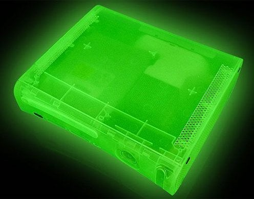 XCM Xbox 360 Casemod Glows Whether Console is Overheating or Not