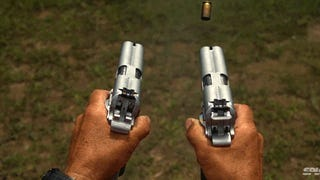 Slow motion footage of double barreled pistols firing bullets is crazy