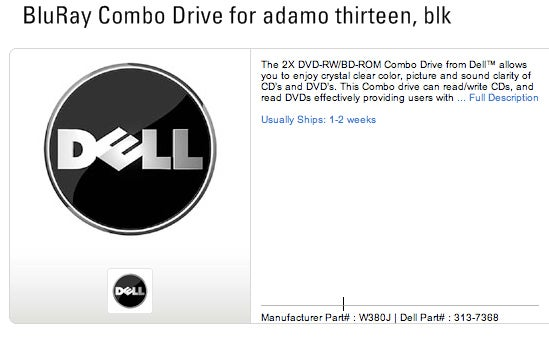 Rumor: Dell Adamo to Pack Blu-Ray and eSATA Peripherals