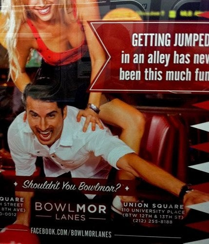 NYC Bowling Alley Makes Fun of Rape While City Sexual Assault Rates Climb