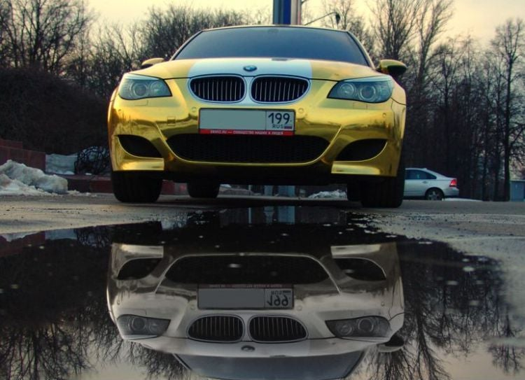 Gold-Plated BMW M5 Makes Chrome-Plating Look So Passé