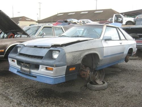 1984 Dodge Shelby Charger Down On The Junkyard