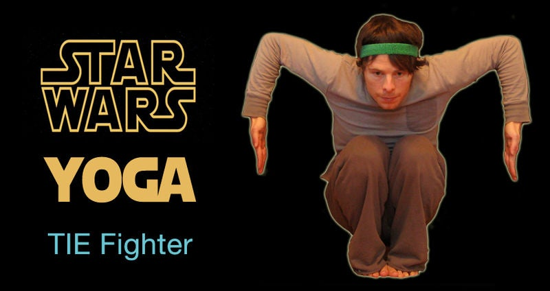 Ready your downward facing Wookie pose, with this simple Star Wars yoga guide