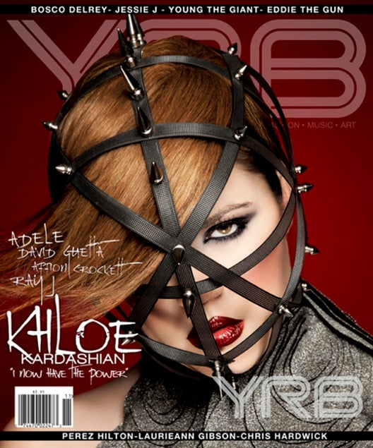 A Heavily Photoshopped Khloe Kardashian Does Most Random, Bondage-y, Fashion Cover Ever