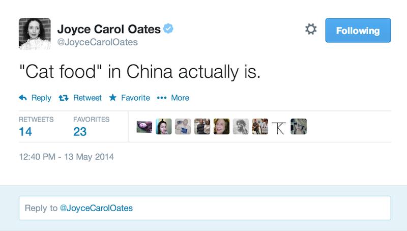 An Open Letter to Joyce Carol Oates: Delete Your Twitter Account