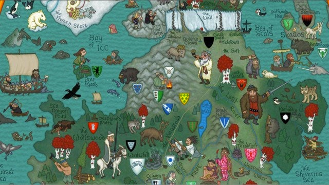 Massive, Easter Egg-filled map of Game Of Thrones' Seven Kingdoms