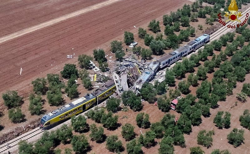 At Least a Dozen Killed in Train Collision in Southern Italy