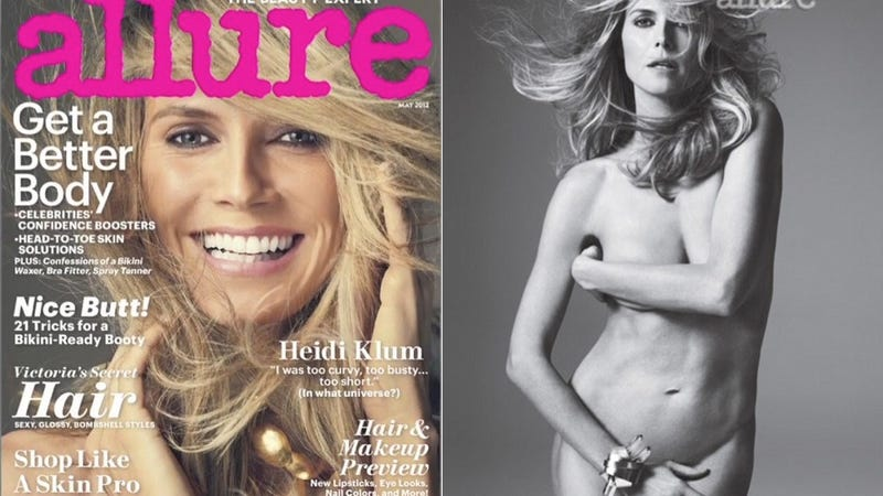Heidi Klum is Naked and Talking About Her Blow Job Expertise in the New Allure