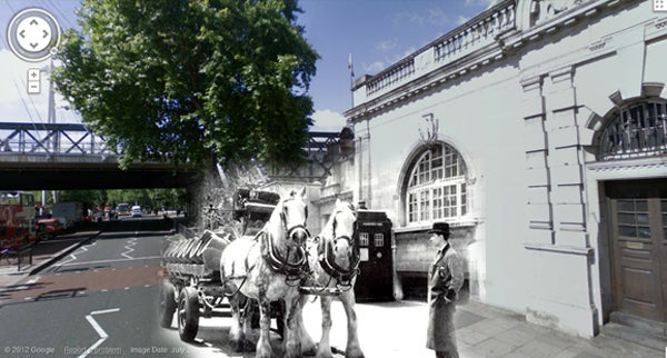 These vintage photo mashups show the places once visited by the Doctor