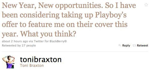 Toni Braxton Is Considering Posing For Playboy