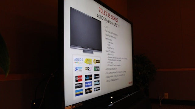 Sharp Aquos 70 Inch 3D TV Gally