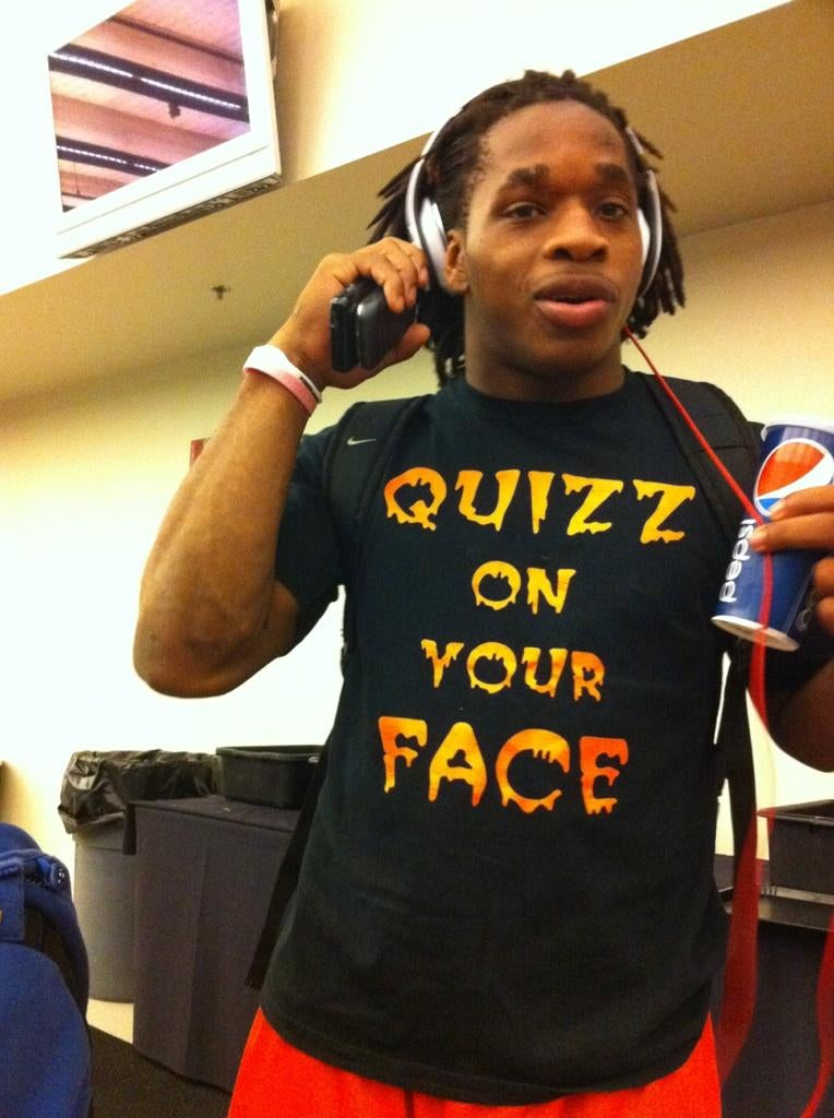 Jacquizz Rodgers Will Quizz On Your Face, If His T-Shirt Is To Be Believed