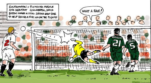 After Photography Ban, Soccer Game Covered By Cartoonist