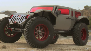 Jay Leno Drives A Supervillain Jeep With 50-Inch Tires And No Lift
