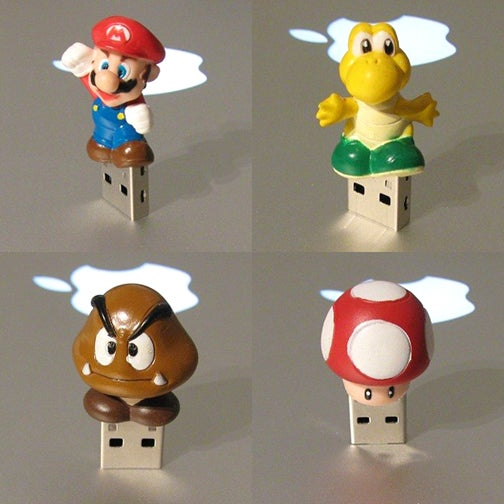 Check Out These Custom Mario USB Thumb Drives