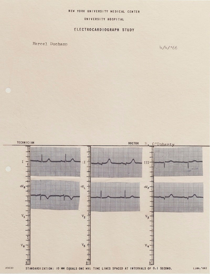 Marcel Duchamp's Heartbeat Is the Beat