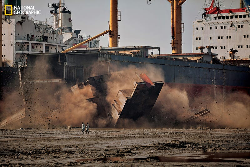 The Ship-Breakers Who Tear Apart Dead Cargo Vessels By Hand