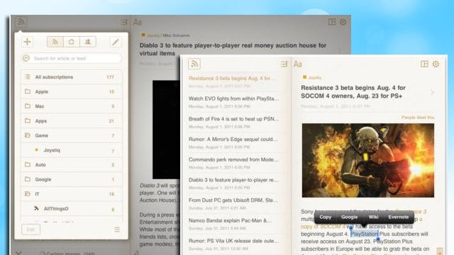 Perfect RSS Reader for iPad Looks Great, Syncs with Google Reader