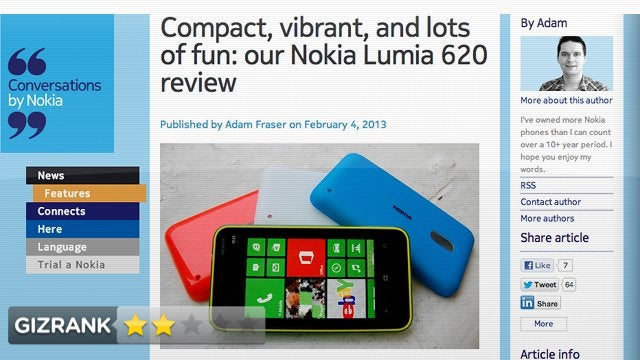 Lightning Review: Nokia's Review of Its Own Phone