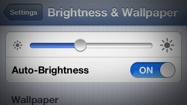 how to stop autobrightness ios